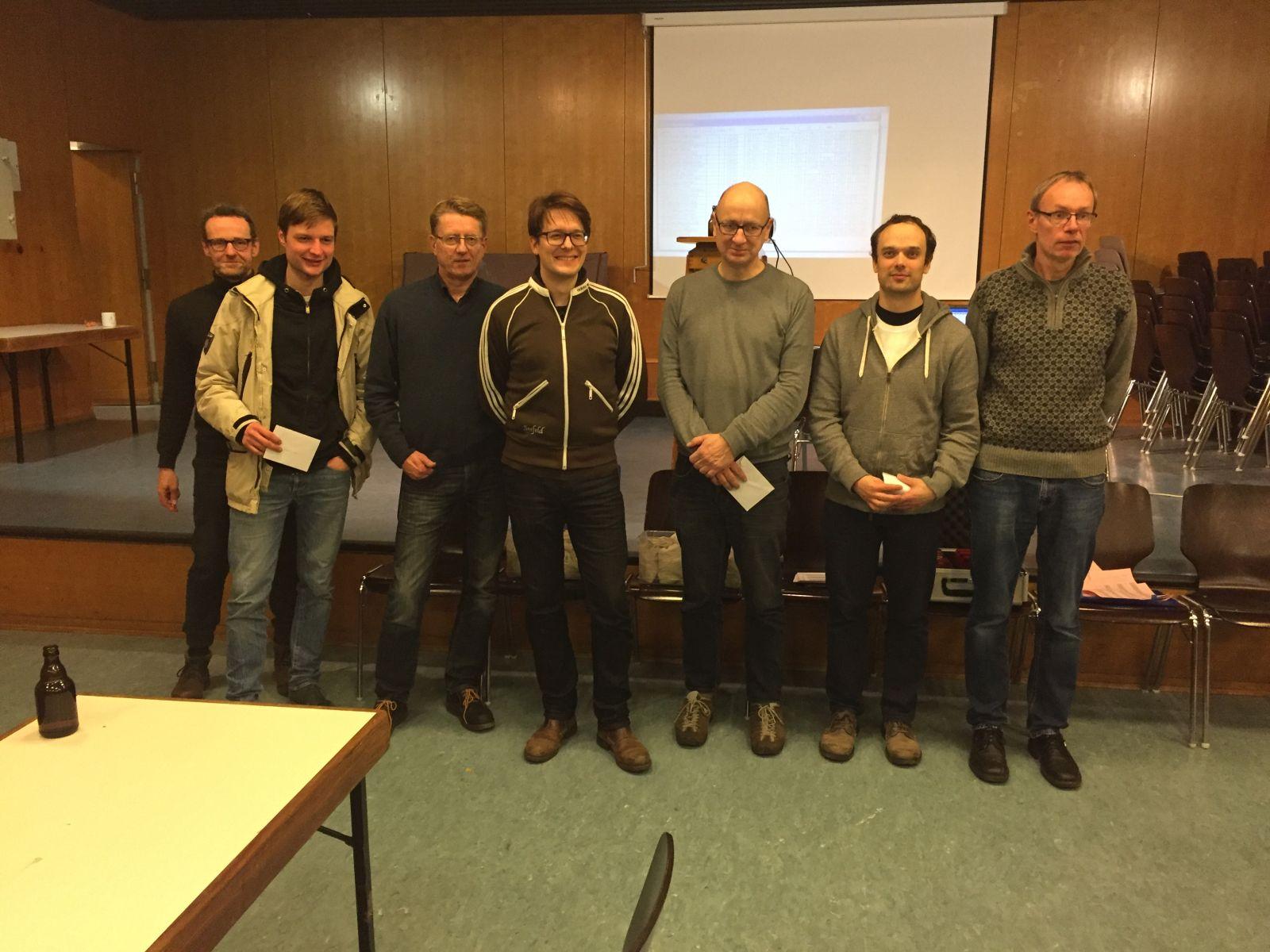 Preisträger, v.l.: Markus Winter, Maximilian Reuter, Stefan Wolff, Gerrit Voigt, Lutz Franke, Bernhard Jürgens, Jörg Holzhausen